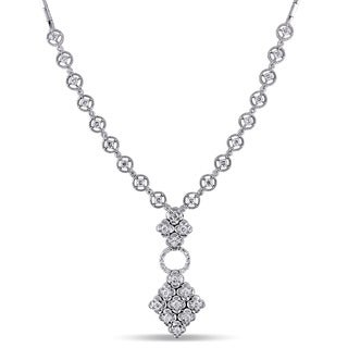 Miadora Signature Collection 18k White Gold 2ct TDW White Diamond Necklace