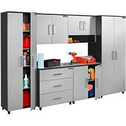 Black & Decker Garage and Workshop 2-Door Chrome Tool and Storage Base Cabinet - Thumbnail 2