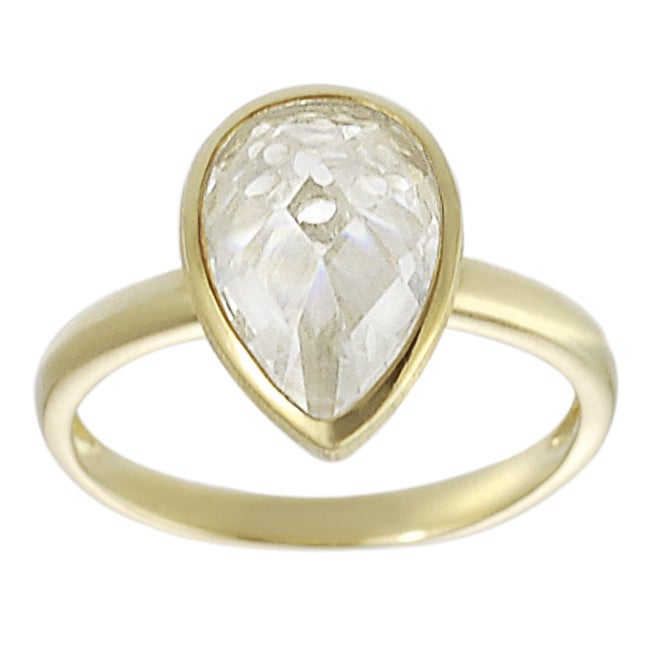 Journee Collection Gold over Sterling Silver Cubic Zirconia Ring