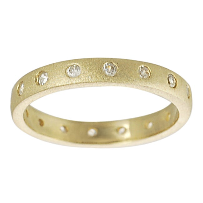 Journee Gold over Sterling Silver Cubic Zirconia Ring