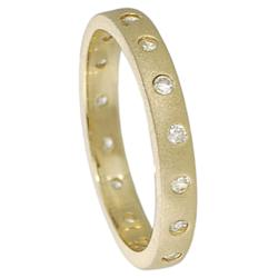 Journee Gold over Sterling Silver Cubic Zirconia Ring - Thumbnail 1