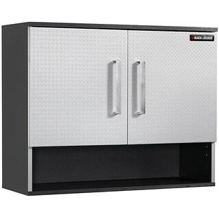 Black & Decker Garage and Workshop Chrome-Finished Open-Shelf Wall Cabinet