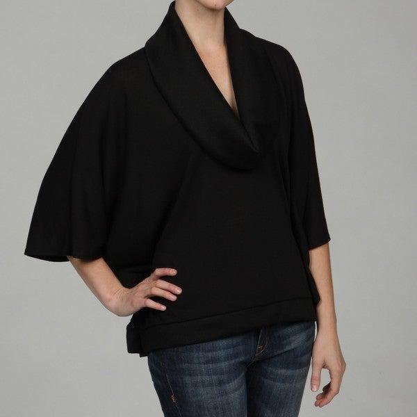 Intrigue Women's Dolman Sleeve Cowl Neck Top FINAL SALE