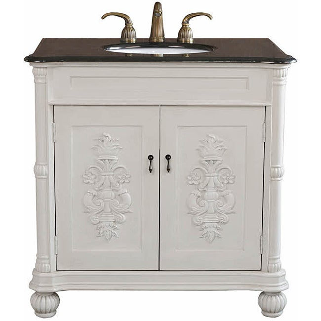 72 inch double sink bathroom vanities - Grande Antique White Bathroom Vanity Free Shipping Today