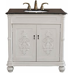 Grande Antique White Bathroom Vanity