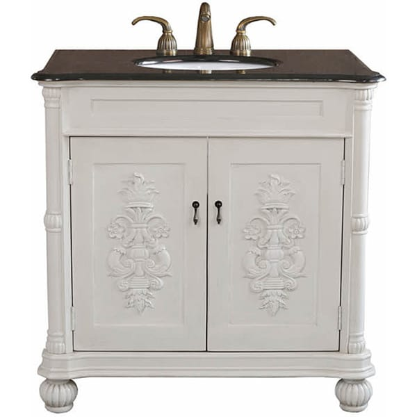 Grande Antique White Bathroom Vanity Free Shipping Today