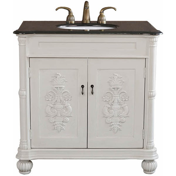 Antique White Bathroom Cabinets grande antique white bathroom vanity - free shipping today
