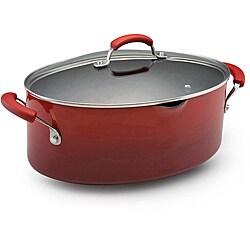 Rachael Ray Hard Enamel Cookware 8-quart Covered Pasta Etc. Pot, Red 2-tone