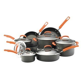 Rachael Ray Hard-anodized Nonstick 14-piece Cookware Set with Orange Handles|https://ak1.ostkcdn.com/images/products/6246586/P13885979.jpg?impolicy=medium