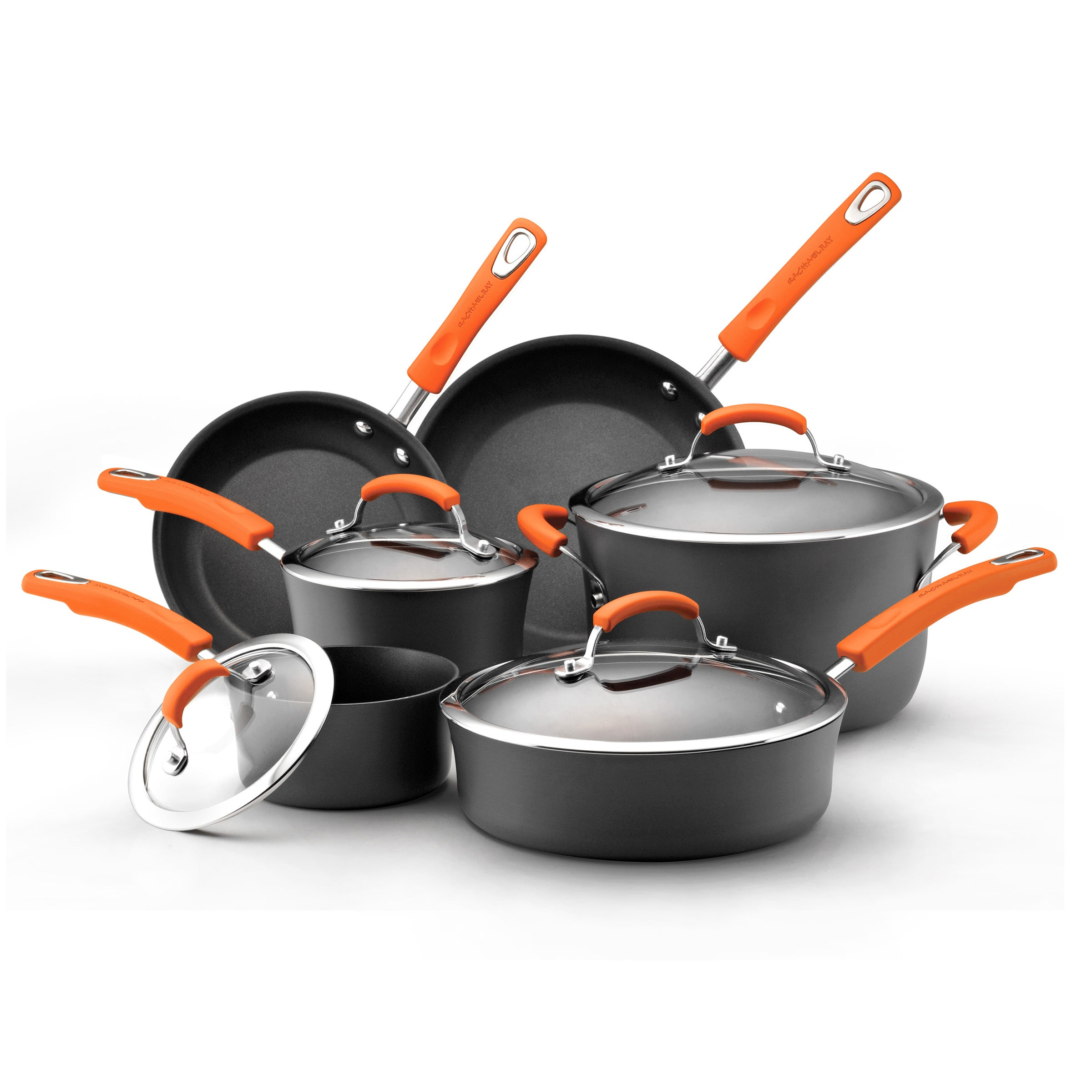Rachael Ray II Hard-anodized Nonstick 10-piece Cookware S...