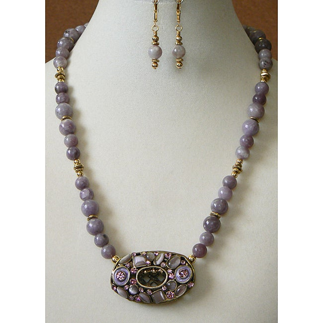 'Lovely in Lilac' Necklace and Earring Set