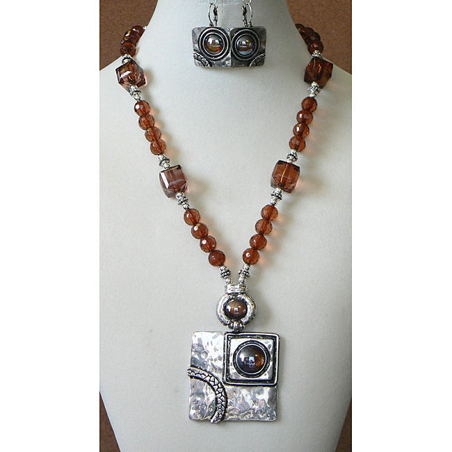 Picasso on the Rocks' Necklace and Earring Set