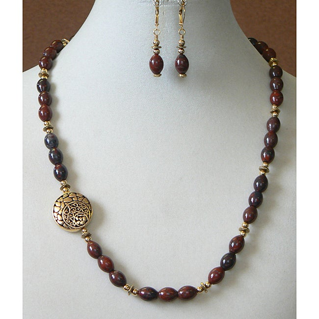 'Jasper Moon' Necklace and Earring Set