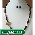 Jasper Moon' Necklace and Earring Set