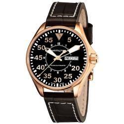 Hamilton Men's Khaki Aviation Pilot Rose Gold PVD Automatic Watch|https://ak1.ostkcdn.com/images/products/6246704/77/929/Hamilton-Mens-Khaki-Aviation-Pilot-Rose-Gold-PVD-Automatic-Watch-P13886065.jpg?impolicy=medium