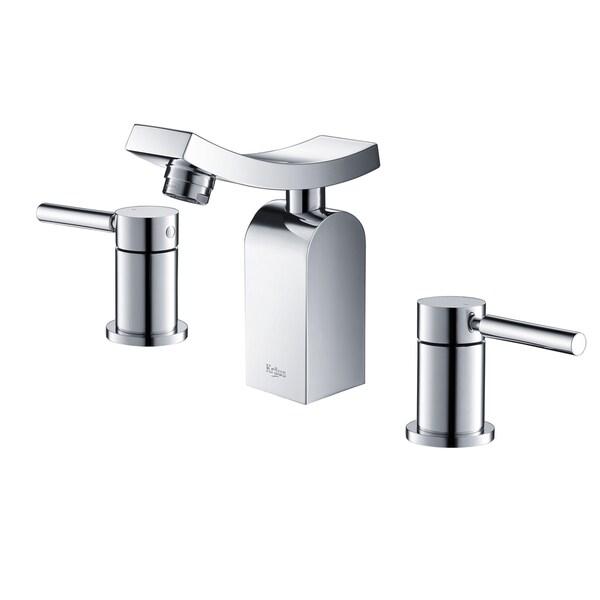 Kraus Unicus 3-hole Bas-inch Faucet Chrome