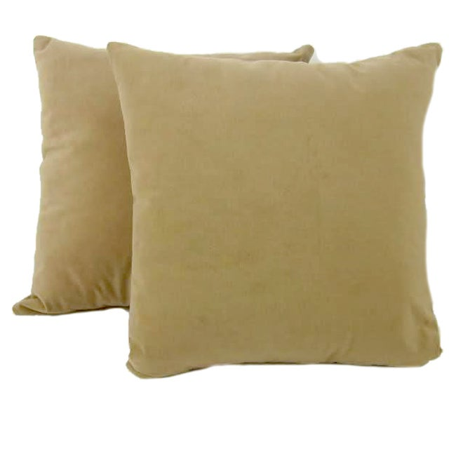 Chamois 18-inch Throw Pillows (Set of 2)