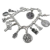 Handmade Sterling Silver Good Karma Charm Bracelet (Thailand)
