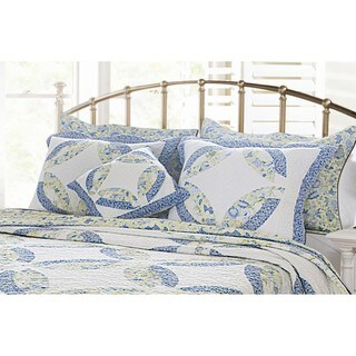 Greenland Home Fashions Francesca Quilted Pillow Shams (Set of 2)