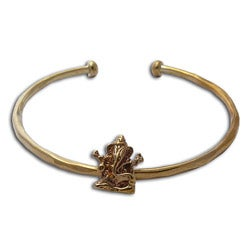 Recycled Brass Ganesh Statue Cuff Bracelet (Indonesia)
