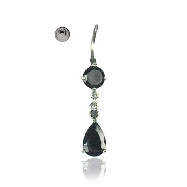 Supreme Jewelry 14G Surgical Steel Teardrop Barbell Belly Ring
