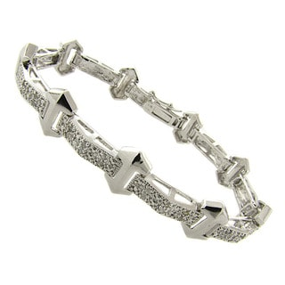Finesque Silverplated 1/4ct TDW Diamond Bracelet (I-J, I2-I3)
