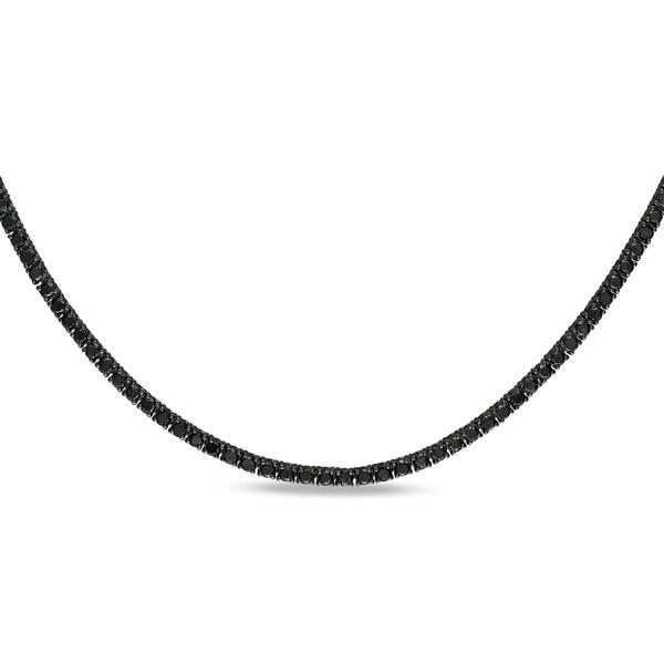 Miadora Signature Collection 18k Gold 27 3/5ct TDW Black Diamond 46-inch Necklace