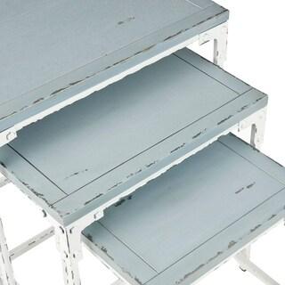 Safavieh Saffron 3-piece Pale Blue Nesting Table