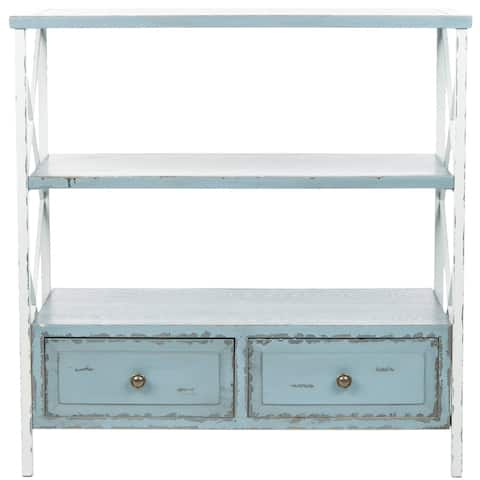"Safavieh Saffron Pale Blue Storage Console Table - 33.9"" x 15.2"" x 34.8"""