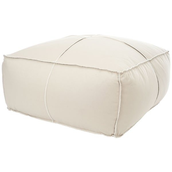 Safavieh Beige Large Poof Ottoman Chair Free Shipping