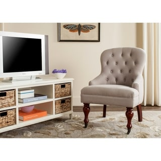 Safavieh Sutton Tufted Beige Arm Chair