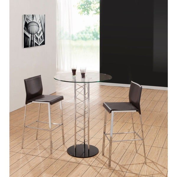 Niles Chrome and Steel Black or Espresso Bar Chair