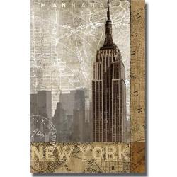 Keith Mallett 'Autumn in New York' Canvas Art