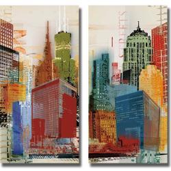 Noah 'Urban Style I and II' 2-piece Canvas Art Set