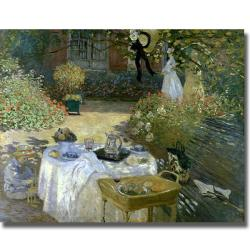 Claude Monet 'The Lunch' Canvas Art