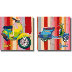 Valerio Salvini 'Pop Vespa I and II' 2-piece Canvas Art Set