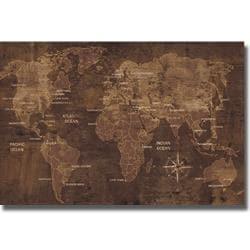 Luke Wilson 'The World' Canvas Art