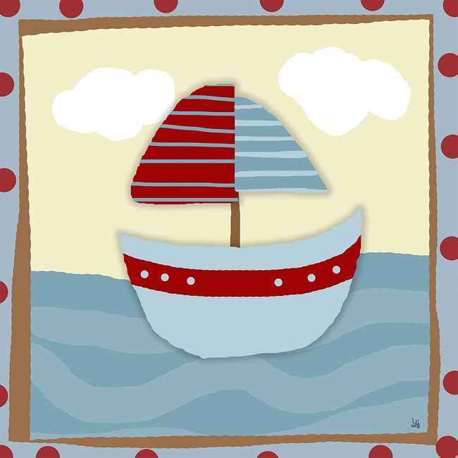 Ankan 'Baby Boat 2' Gallery-wrapped Canvas Art