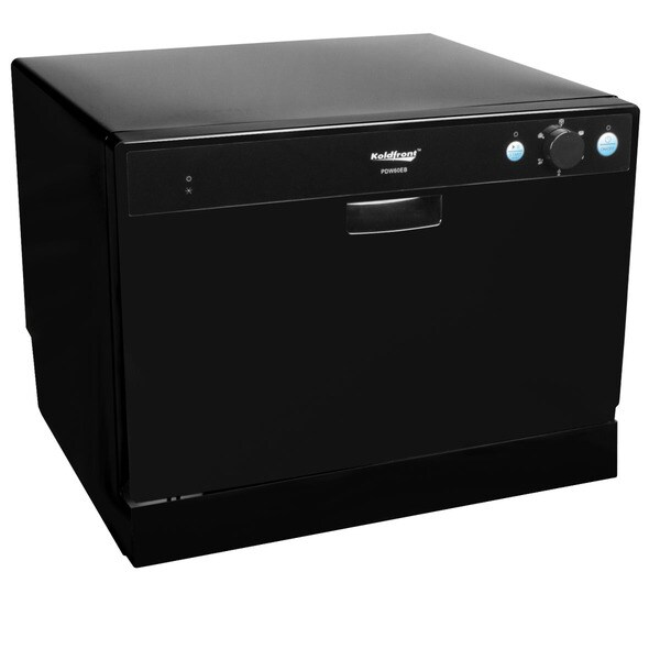 Koldfront 6 Place Setting Black Countertop Dishwasher Sold by Living Direct