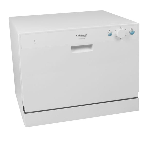 Koldfront 6 Place Setting White Countertop Dishwasher Sold by Living Direct
