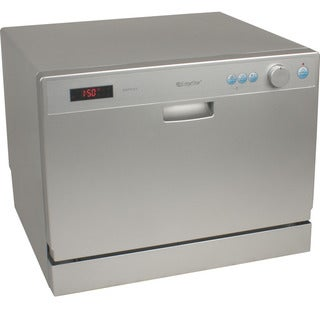 EdgeStar 6 Place Setting Silver Countertop Dishwasher Sold by Living Direct