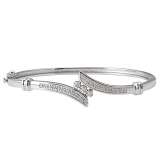 Sterling Silver 1/4ct TDW Diamond Bangle (J-K, I3)