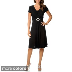 R & M Richards Women's Buckle Dress