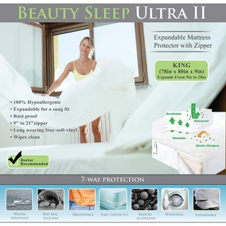 Bed Bug Waterproof Expandable to 20-inches Complete encasement Mattress Cover