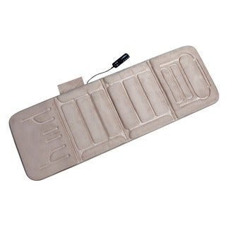 Relaxzen 60-2907P08 10-motor Massage Beige Standard Mat with Heat