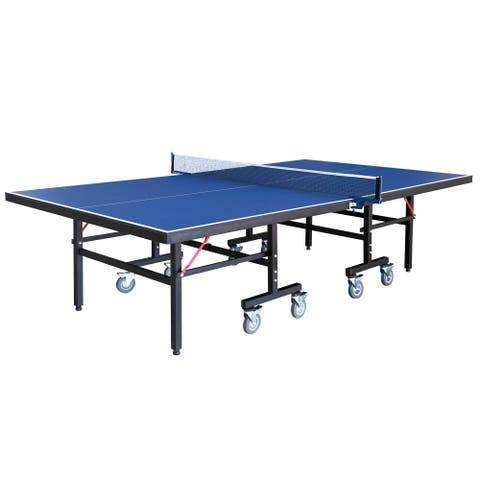 Back Stop 9-Foot Table Tennis Table - Blue
