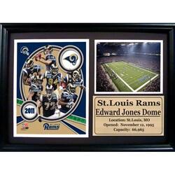 2011 St. Louis Rams 12x18 Photo Stat Frame
