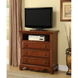 Furniture of America Coast Cherry Oak Finish Media Chest/ Cabinet