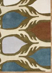 Alliyah Handmade Cream New Zealand Blend Wool Rug (8' x 10')