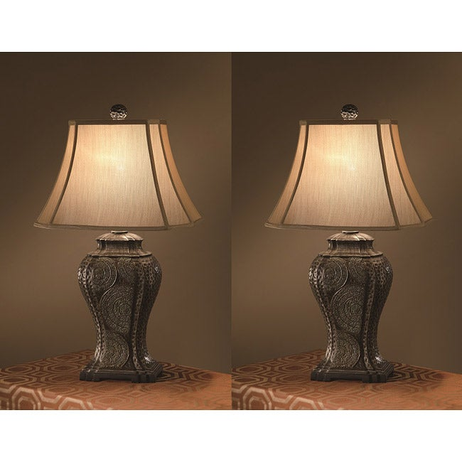 tempura 30 inch 1 light table lamps set of 2 free. Black Bedroom Furniture Sets. Home Design Ideas